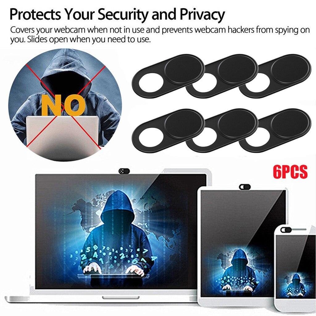 2020 6PC WebCam cubierta imán de obturador deslizante Universal Antispy la cubierta de la cámara para PC portátil para tableta iPad lentes de privacidad de etiqueta