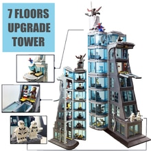 Nouvelle Version améliorée Ironman Compatible Lepining tour vengeur Fit Avengers cadeau bloc de construction briques jouets