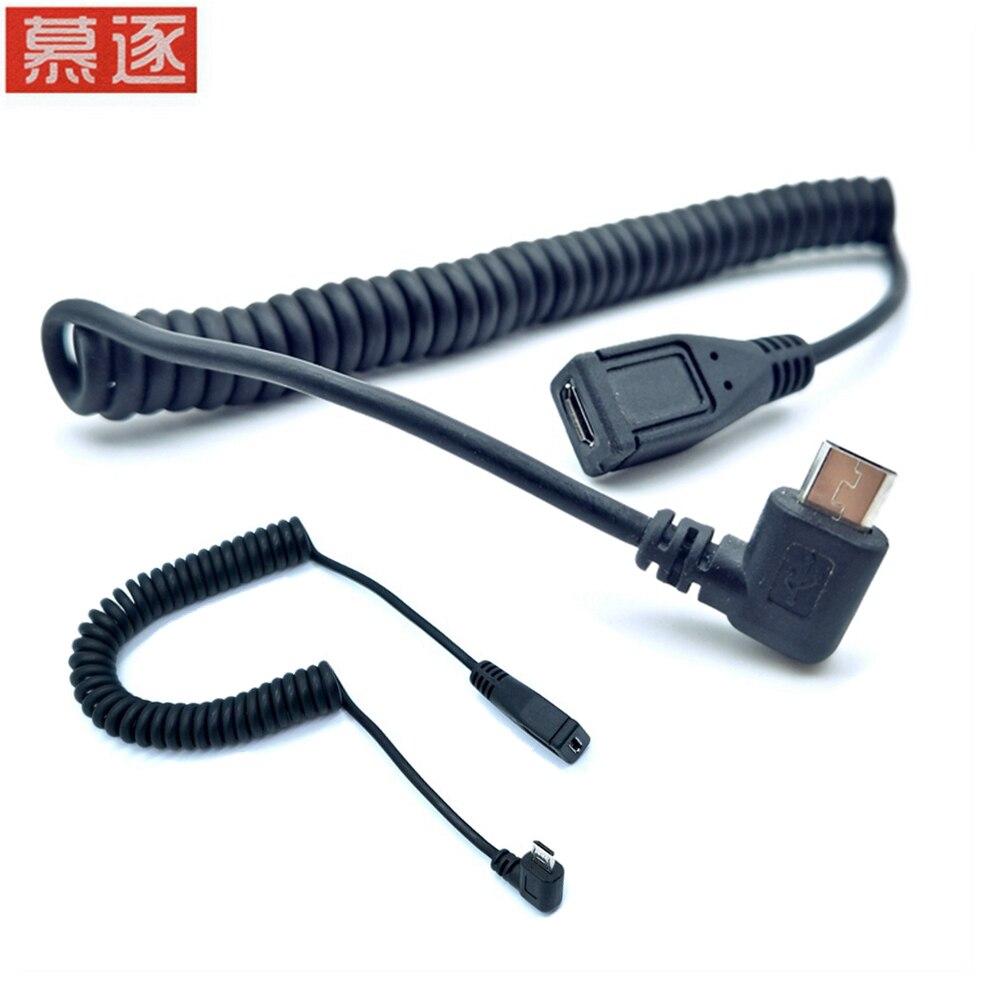 Cable macho a hembra de 90 grados Micro USB de ángulo izquierdo...