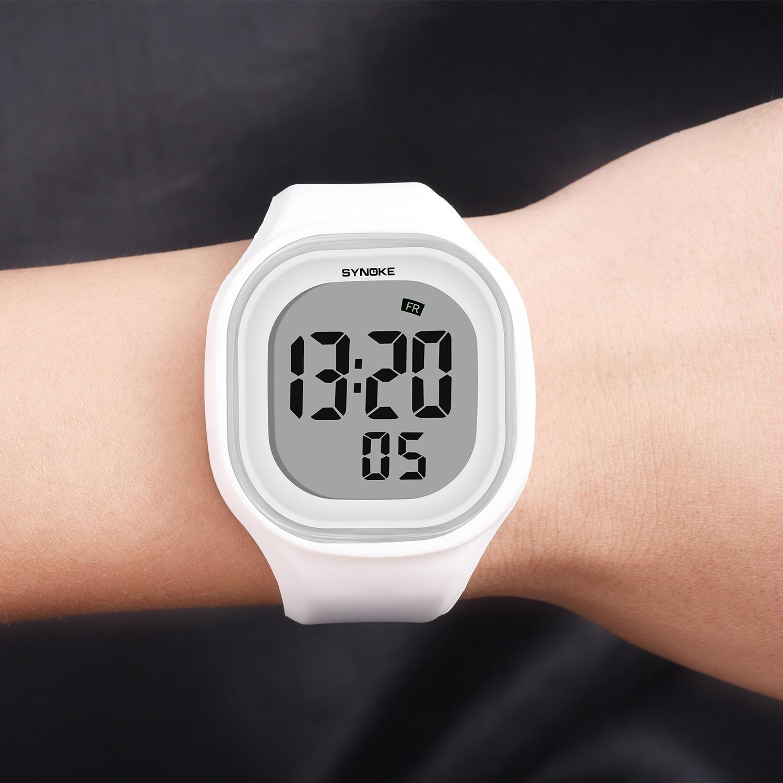 SYNOKE мужские цифровые наручные часы Спортивные LED Будильник 50 м водонепроницаемые таймер Женские электронные часы Relogio Masculino