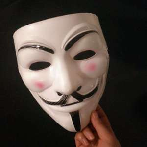 Маски на Хэллоуин V-значит вендетта маска Гай Фокс анонимный маскарадный костюм косплей костюм
