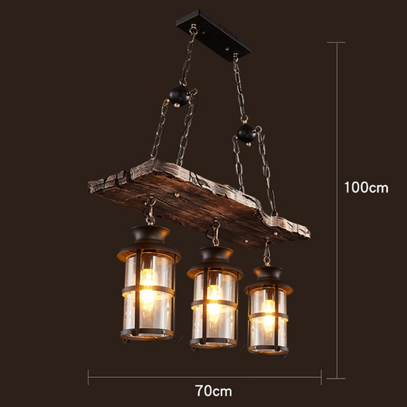 north american country pendant lights loft retro dining room bedroom ceiling lamp simple creative iron 3 6 heads pendant lamps Retro LOFT Old Boat Solid Wood LED Pendant Lights Vintage Hanging Lamp Pendant Lamps For Living Room Dining Room Bedroom Cafe