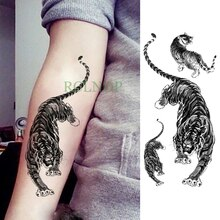 Autocollant de tatouage temporaire imperméable tigre animal faux Tatto Flash Tatoo jambe bras main pied tatouage pour hommes fille femmes dame