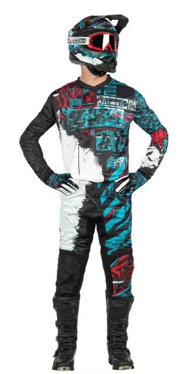 MX maillot de course pantalon Combo moto saleté vélo ATV UTV ensemble de vitesse de course