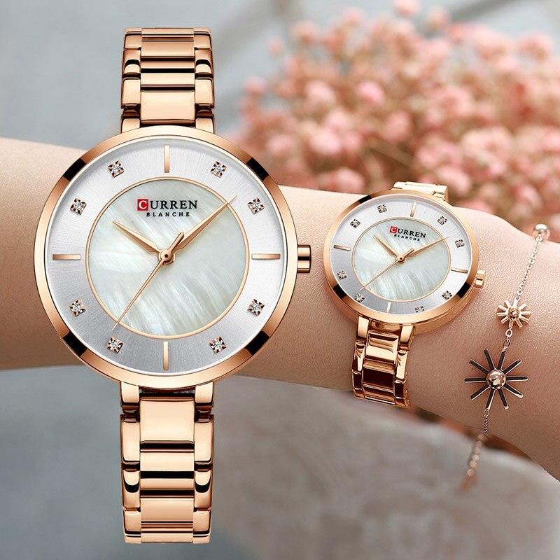 Curren Woman Watches Rose Gold Top Brand Luxury Watch Women Quartz Waterproof Women's Wristwatch Ladies Girls Watches Clock
