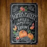 farmers market vintage tin signs craft tin sign retro metal painting antique iron poster bar pub signs wall art stic