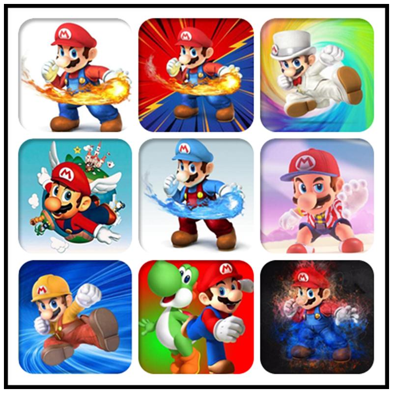 "DIY Diamond Painting Needlework Full Diamond ""Super Mario Childhood Memory"" Game Embroidery Cube Decorate Rhinestones"