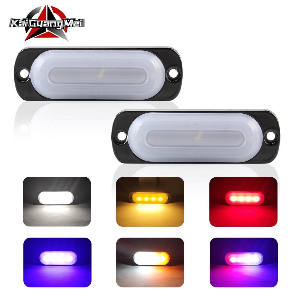 2 adet 12V-24V araba Led acil Strobe ışıkları Led yan işaretleyici uyarı lambası otomatik ızgara arıza işık SUV kamyon motosiklet