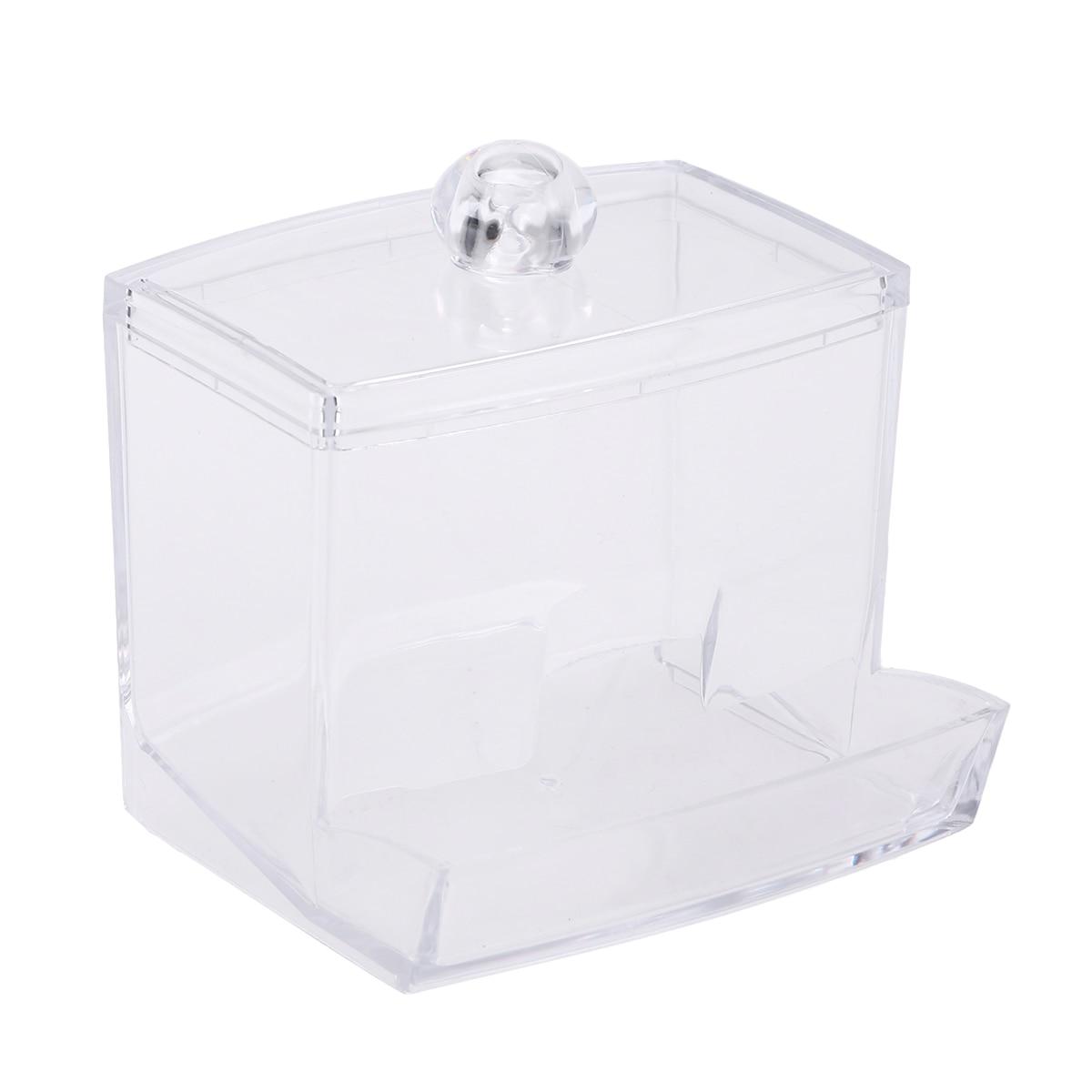 Bastoncillo de algodón a prueba de polvo organizador caja de almacenamiento exótico Mesa Caja de almacenamiento para palillos de dientes dispensador de mondadientes A30