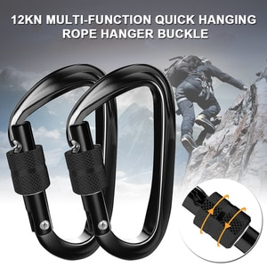 Newly Ultra Sturdy Locking Carabiner Clips 2Pcs 12KN Heavy Duty Carabiners for Hammocks Camping Hiking Swing S66