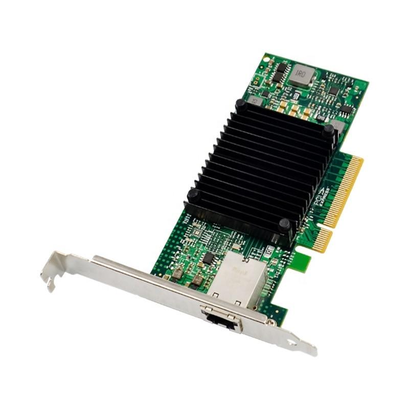 PCIe X8 to 10GbE RJ45 Ethernet Server NIC Network Card PCIe 10 Gigabit RJ45 server network card 82599EN Chipset 10G LAN 10000M