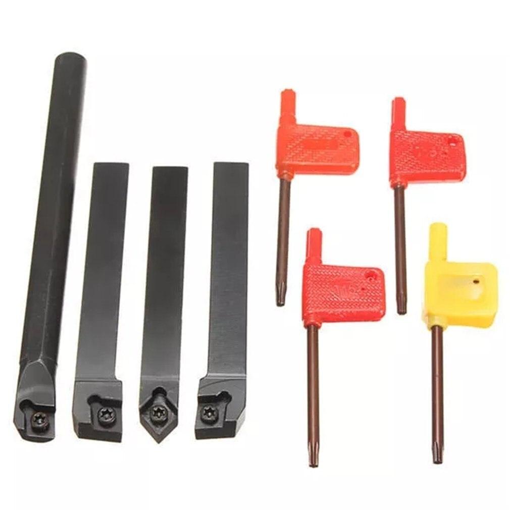4 Uds 12mm SCLCR1212H09 SCLCL1212H09 SCMCN1212H09 S12M-SCLCR09 torno de inflexión de la herramienta del sostenedor con 10 Uds insertos para CCMT Ins