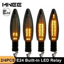 E Mark indicatori di direzione per moto relè a LED incorporato lampeggiatore per motore E24 impermeabile luci per moto indicatori di direzione a LED
