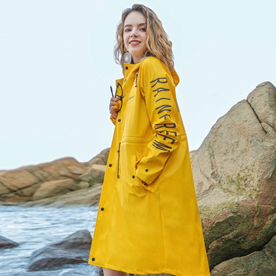 Yellow Men Raincoat Waterproof Long Coat Women Overall Raincoat Outdoor Impermeable Lluvia Rain Poncho Adult Jacket Cloak Coat enlarge