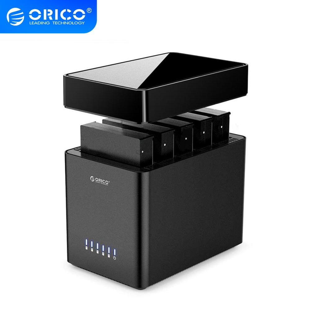 ORICO DS Series 5 Bay 3.5'' Type-C Hard Drive Enclosure  Magnetic-type SATA3.0 HDD Case Support UASP 12V6.5A Power MAX 50TB