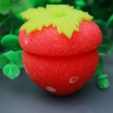 12pcs Lovely Girls Strawberry Balls Hair Care Soft Sponge Rollers Curlers DIY Tool Cute Hair Accesso