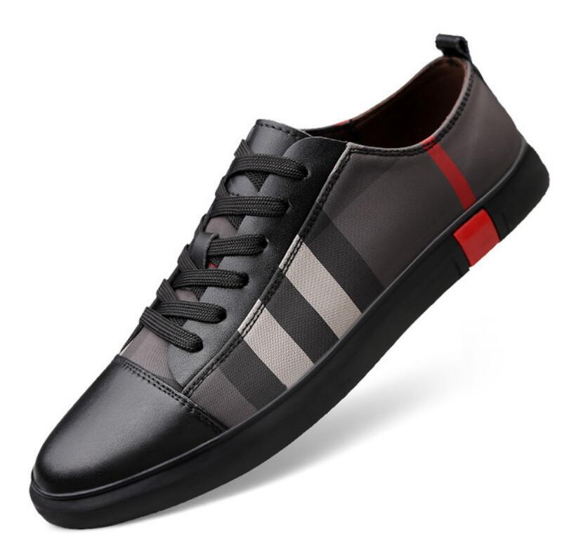 Zapatos planos transpirables de diseñador para hombre, diseño lujoso, zapatos casuales de alta calidad a la moda para hombre, zapatos para hombre de cuero genuino V93