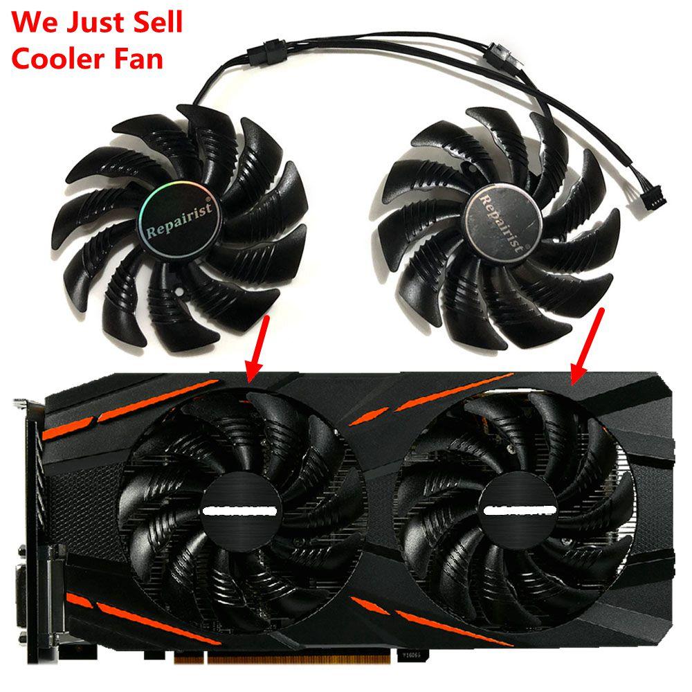 85MM PLD09210S12HH GPU Alternative Kühler Fan Für GIGABYTE GTX1070Ti 1060 GTX1050 AORUS RX580 570 480 470 Grafikkarte Kühlung