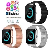 z60 steel belt smart watch smart watch bluetooth smart wearable phone watch mens watches for huawei xiaomi