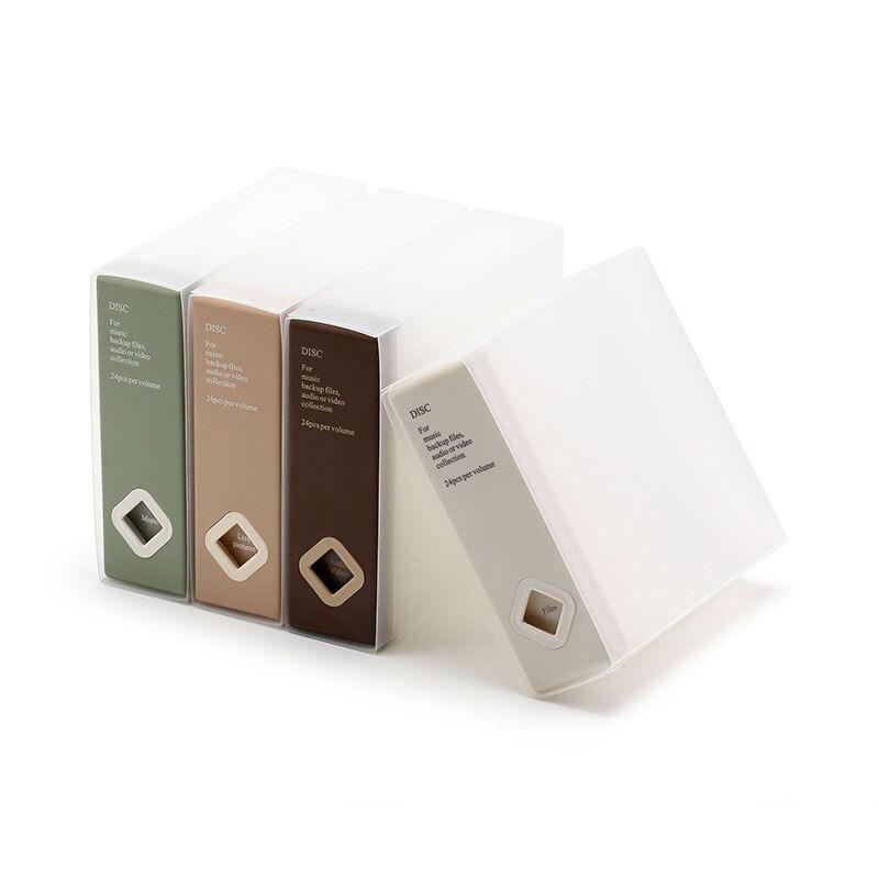 24 Disc  CD Case Plastic DVD Box  Home Office Storage Item