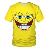 3d printing men and women all match outdoor t shirt cartoon anime characters solid color loose summer trend o neck short sleeves