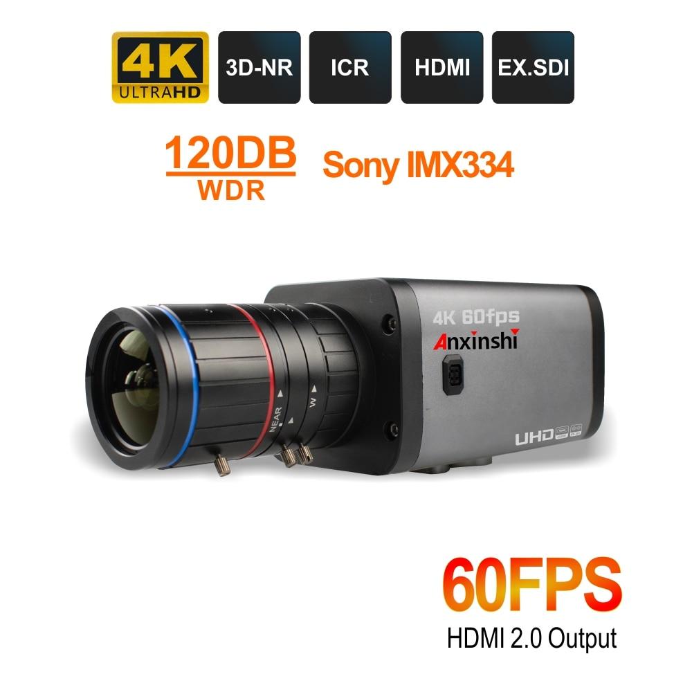 4K صندوق HDMI SDI كاميرا 8.0MP 2160p @ 60/50fps CS جبل عدسة 3.6-11 مللي متر EX-SDI الأمن فيديو كاميرا مراقبة بالدوائر التليفزيونية المغلقة