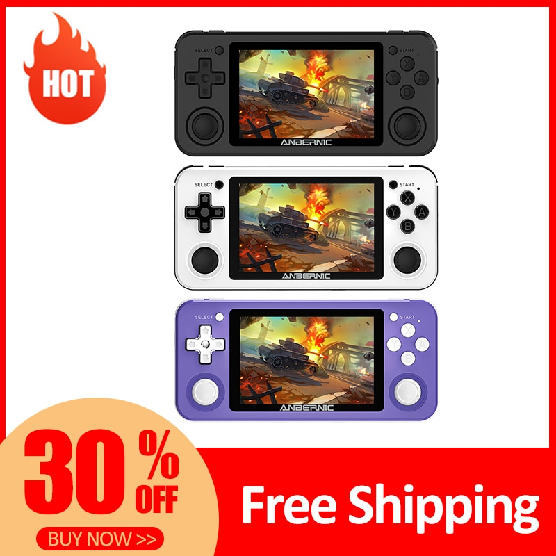 RG351P ANBERNIC Portable Retro Game Console Open Source System Vibration Handheld 3.5 inch IPS 2500 Video Games Player Boy Gift
