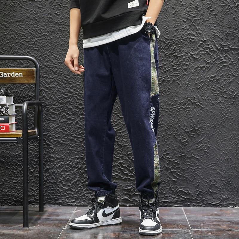 Японская уличная одежда, мужские джинсы, штаны, камуфляжные джинсы для мужчин, повседневные мужские брюки Harajuku, шаровары, мужские дизайнерс...