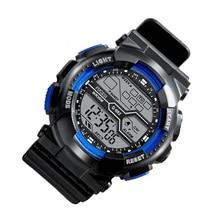 Children's Digital Watch Men's Trendy Waterproof Multifunction Male Sports Luminous Electronic Watch