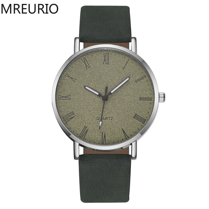 MREURIO Women's Watch Retro Romen Numerals Luxury Matte Watch Surface Ultra Thin Watch for Women Simple Premium Quartz Watch enlarge