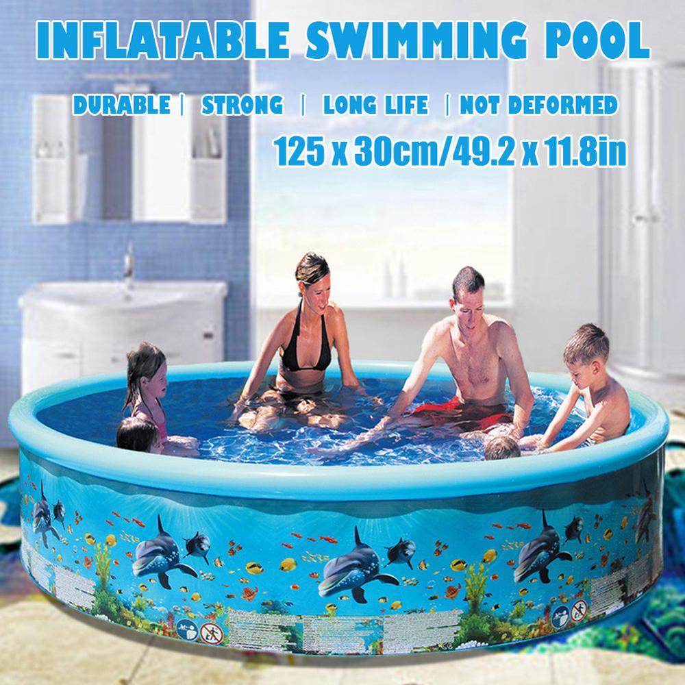 Engrosada piscina inflable volar piscina piscinas grandes para familia patio plegable piscina...