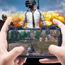 1Pair Mobile Phone Gaming Trigger Gamepad PUBG Button Handle For L1R1 Shooter Controller Keypads Gri