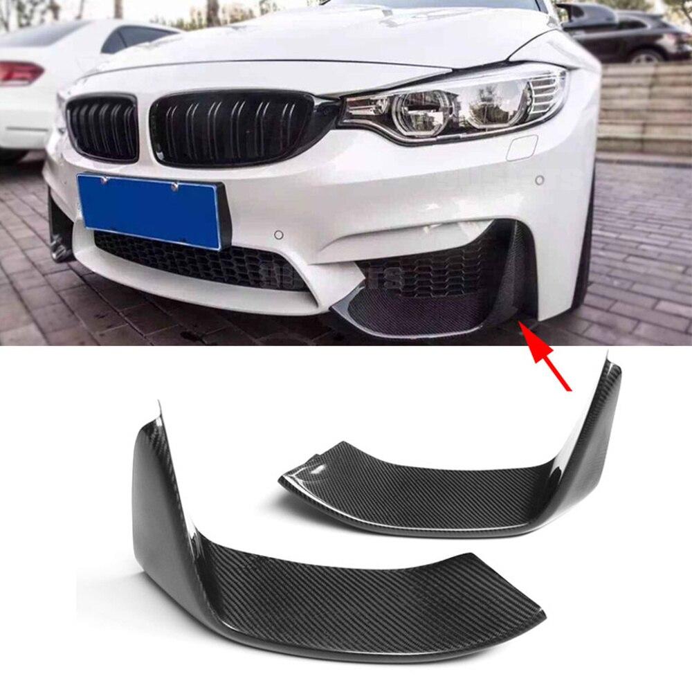 2 قطعة الكربون الألياف الجبهة حافة مصد السيارة الخطان رفرف Cupwings ل BMW 3 سلسلة F80 M3 4 سلسلة F82 F83 M4 2012 - 2018