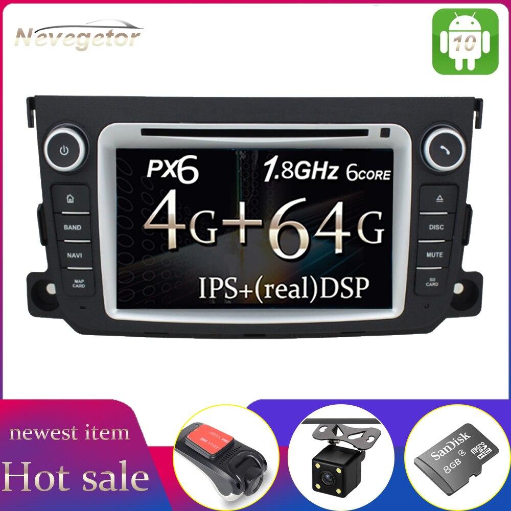PX6, DVD para coche, Radio Multimedia estéreo Android 9 para Mercedes/Benz Smart Fortwo 2011 2012 2013 2014 con Radio WiFi BT