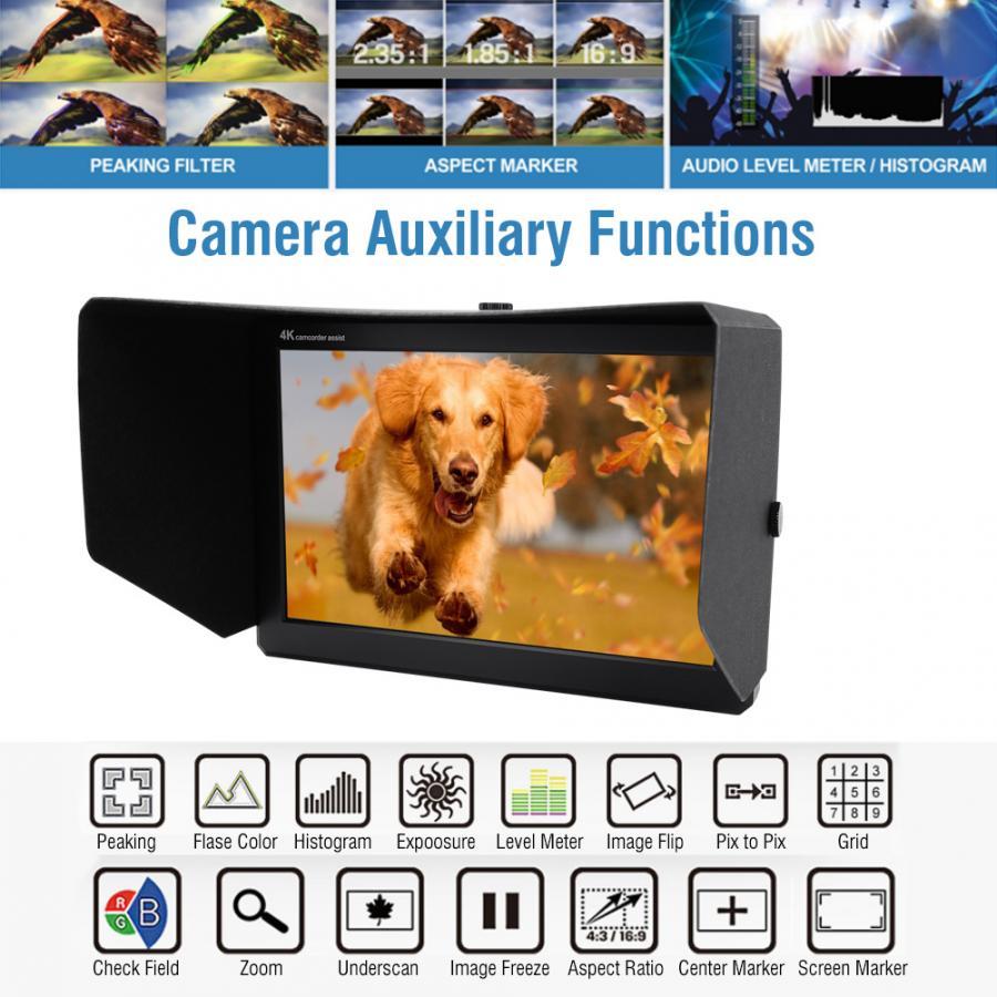 Monitor de cámara LILLIPUT A8 8,9 pulgadas IPS pantalla 4K Full HD Monitor de cámara para cámaras DSLRs Monitor dslr Cam