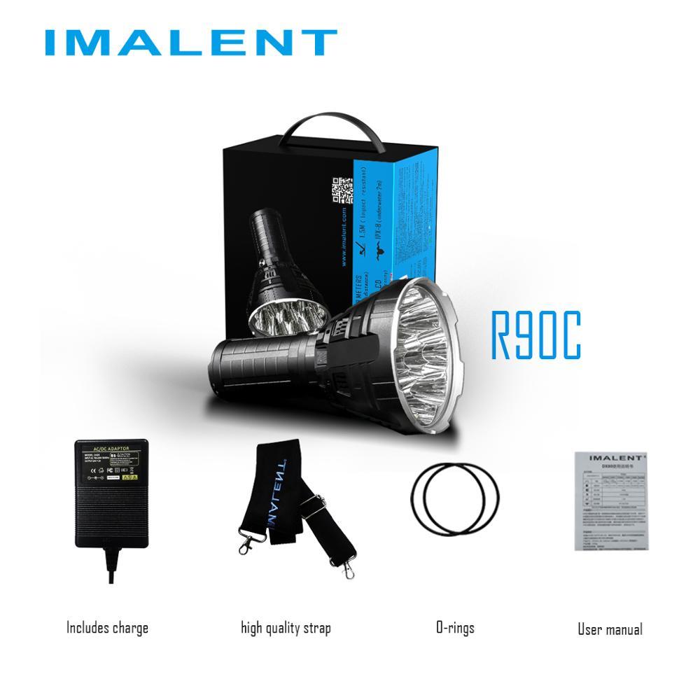 IMALENT R90C 20000 Led Lumens resistente al agua, linterna Cree XHP 35HI, luz de rescate al aire libre, linterna recargable enlarge