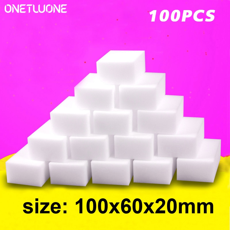 100PCS Melamine Sponge Magic Eraser Sponge Household Items Cleaner Cleaning Sponge For Kitchen Bathroom Cleaning Tools