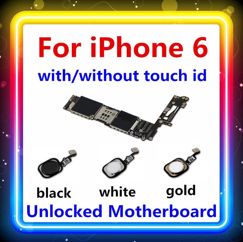 Para iPhone 6 placa base móvil probada buen funcionamiento Original desbloqueado de fábrica para iPhone 6 Placa base con/sin Touch ID IOS