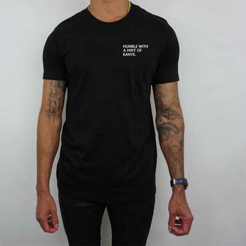 Camiseta estampada para hombre, camiseta de Streetwear, camiseta de talla grande, camiseta de manga corta con un toque de Kanye camiseta de los hombres