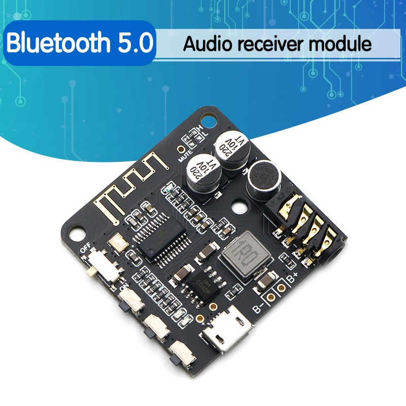 Mini Bluetooth 5.0 MP3 Decoder Board Audio Receiver MP3 Lossless Player Wireless Stereo Music Amplif