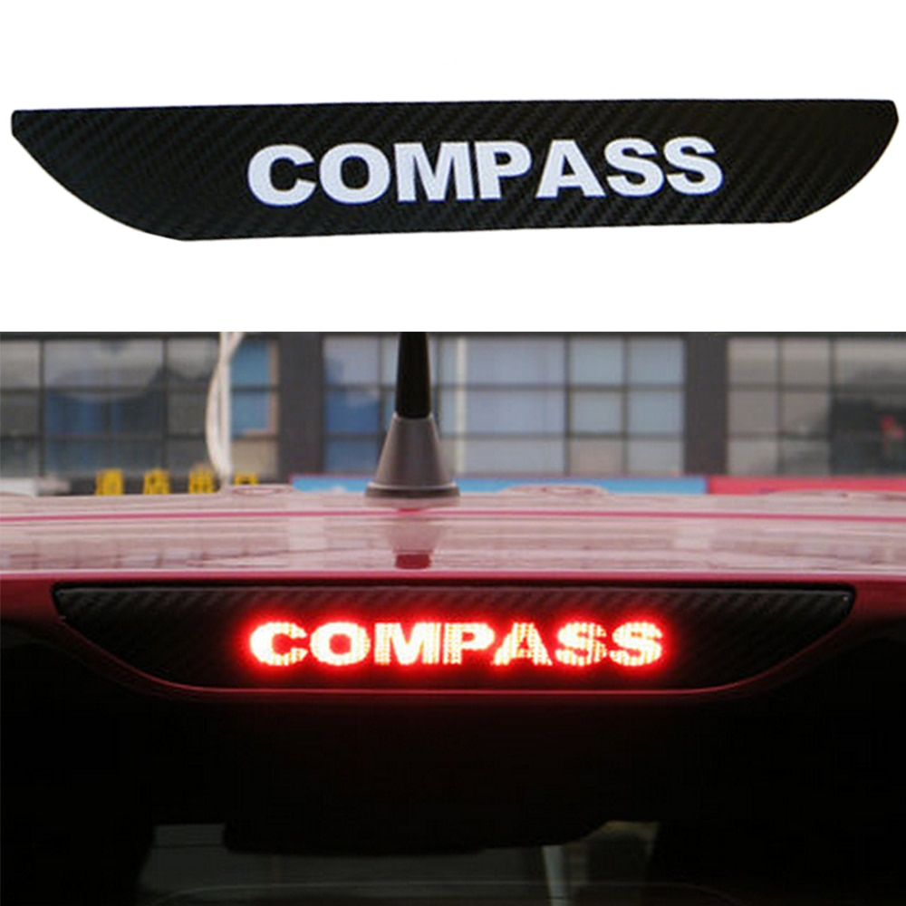 Carbon Fiber Car Sticker Of High Brake Light Fit For JEEP Compass 11-16y Rear Light Sticker Car Styling car styling frp fiber glass nefd rear spat large fit for hyundai veloster turbo only