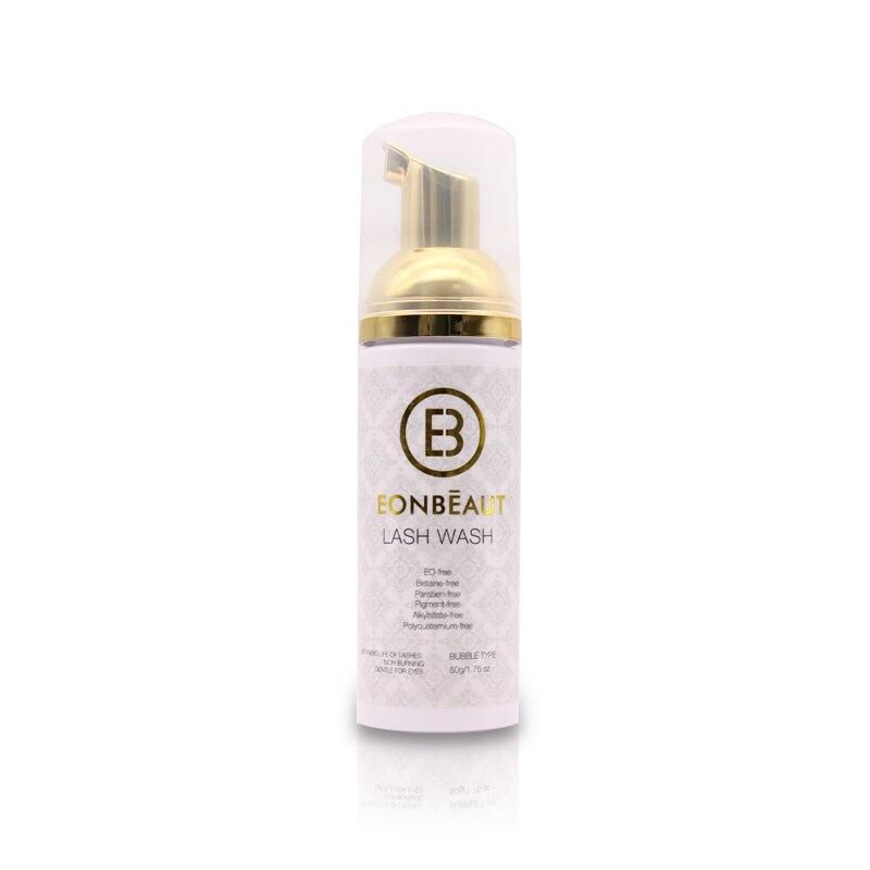 1 Bottle Professional Eyelash Shampoo Foam Cleaner Individual Eyelash Extension Cleanser Shampoo Eyelashes Detergent