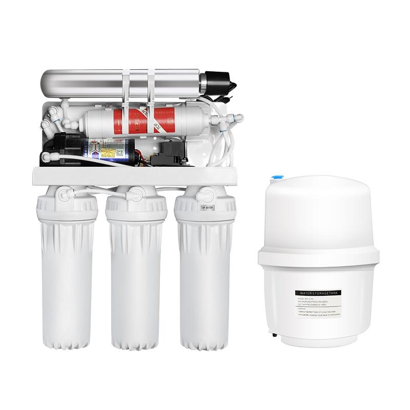 Japan hot selling 125gpd pressure gauge ro purifier big flow domestic reverse osmosis filter pure water drinking machine enlarge