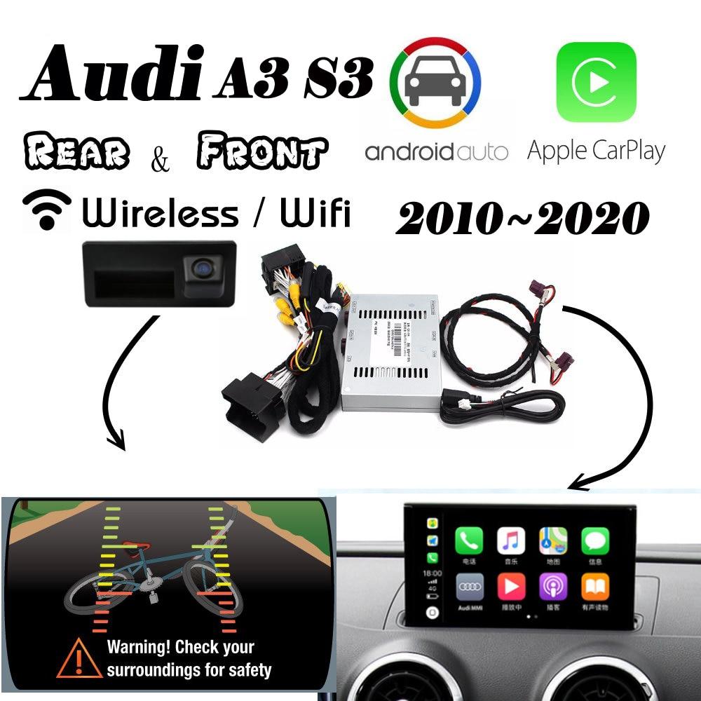 Carplay inalámbrico para Audi A3 S3 RS3 8v MMI3g 2010 ~ 2020 interfaz cámara frontal trasera Android pantalla automática Original mejorar decodificador