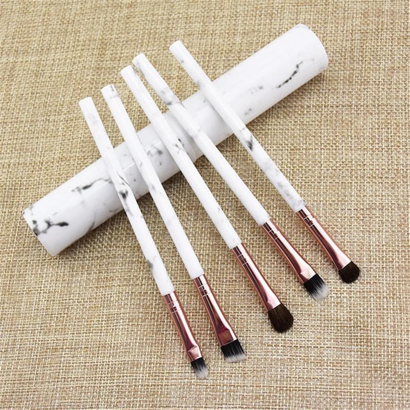 5 pcs aluminum tube makeup brush makeup set brush horse hair making eyebrow brush eye shadow brush professional makeup tool недорого