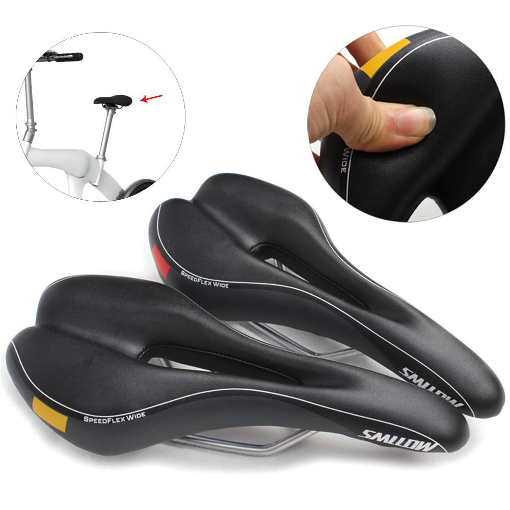 Asiento de bicicleta de carretera MTB, asiento de bicicleta, asiento suave, transpirable, cojín amortiguador