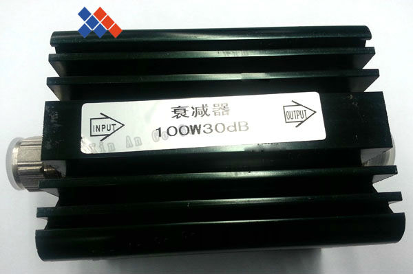 عالية الطاقة 100W واط N الذكور إلى N الإناث المخفف DC-3GHz 30dB محوري الطاقة مع الحرارة بالوعة المخفف