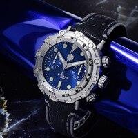 San Martin Limited Edition Automatic Watches 200meters waterproof Swiss ETA7753 Movement Titanium Chronograph diving Wristwatch