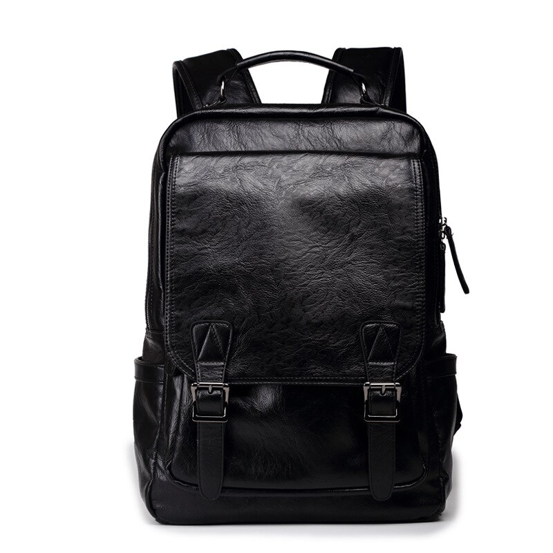Рюкзак мужской из экокожи, модная дизайнерская школьная сумка, индивидуальный вместительный брендовый ранец для ноутбука