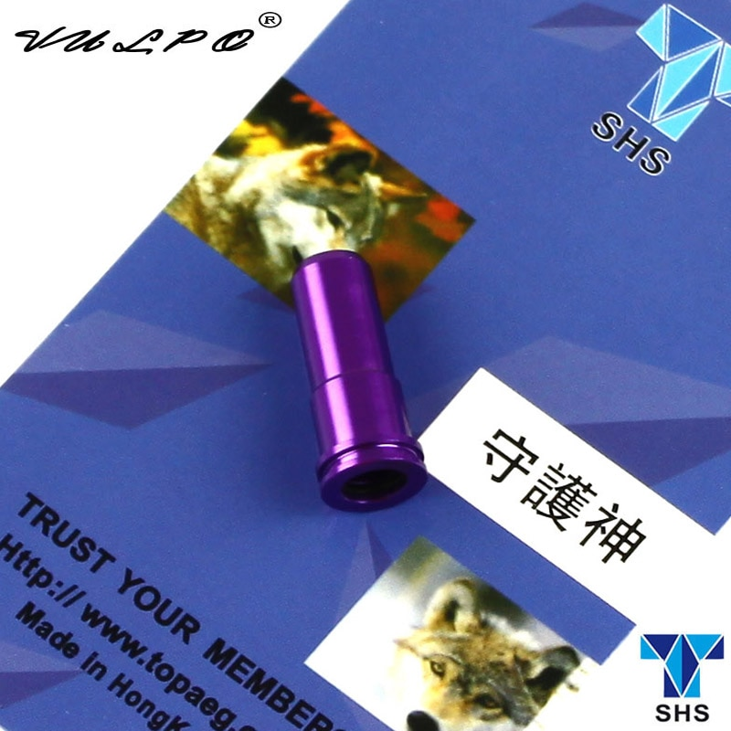 VULPO 3pcs/lot SHS CNC machined aluminum air seal nozzle (purple) For Airsoft AEG AK47 AK74